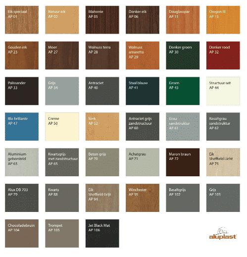 kleuren aluplast