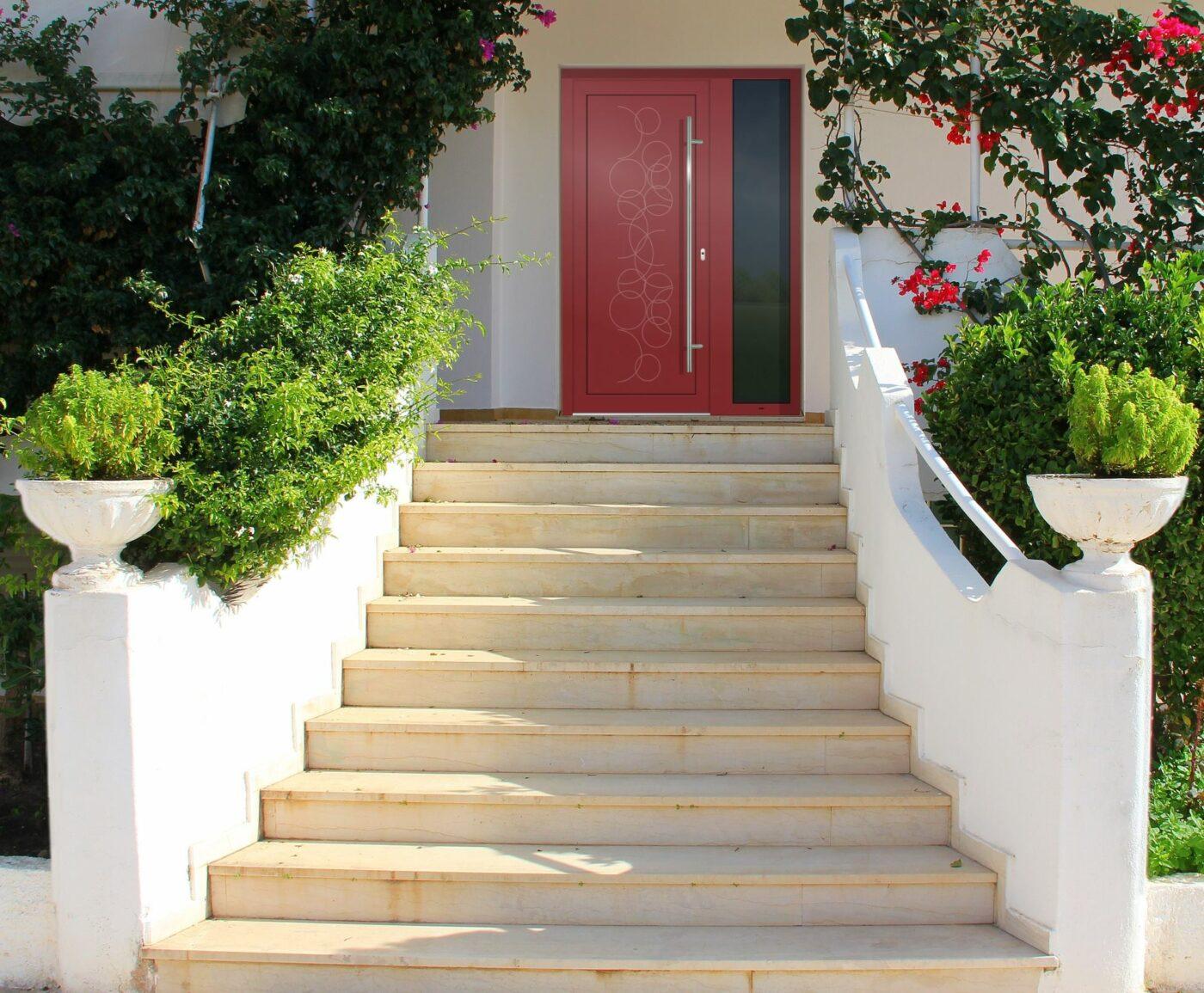 Rode deur GAVA plast