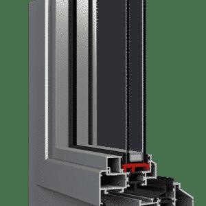 Aluplast aluminium Steel Look kozijn
