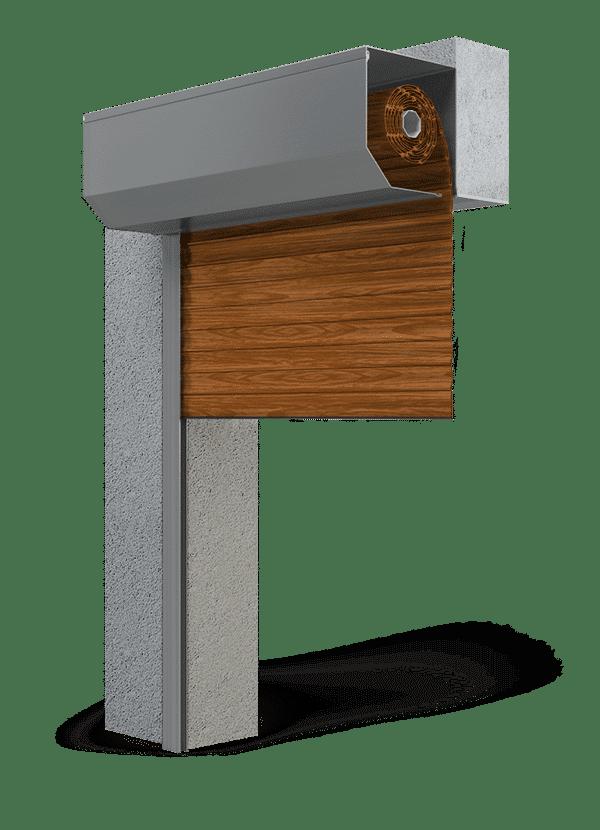 roldeur bruin houtlook